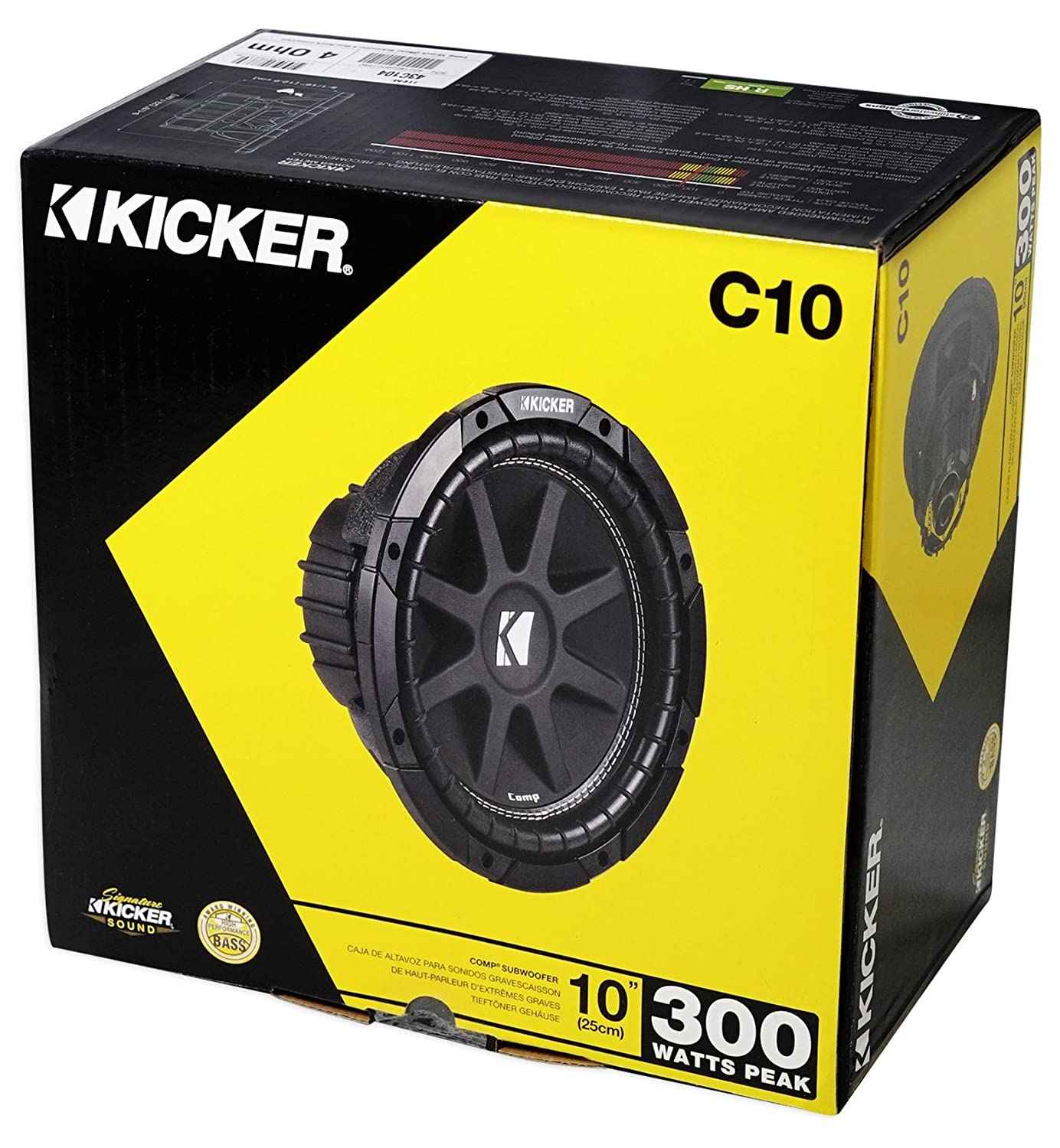 Amazon.com: (2) KICKER 43C104 Comp 10