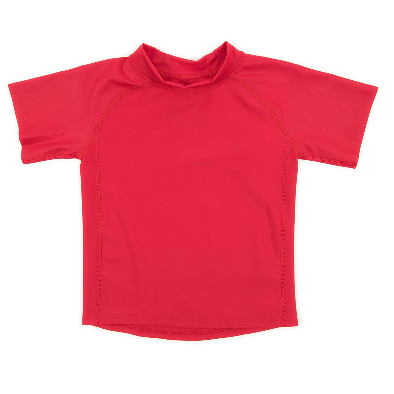 Leveret Short Sleeve Baby Boys Girls Rash Guard Sun Protected UPF + 50 Kids & Toddler Swim Shirt (12 Months-5 Toddler)