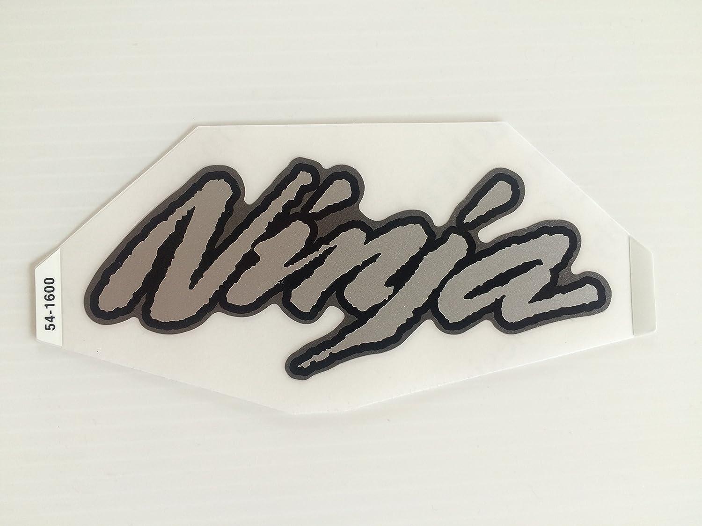 Amazon com brand new genuine original kawasaki ninja fuel tank sticker decal silver black grey automotive