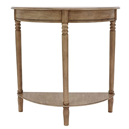 Half Rond Side Table.Decor Therapy Simplify Half Round Accent Table Sahara