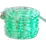 AmazonBasics 210 LED Indoor Outdoor Green Rope Light, 20-Foot