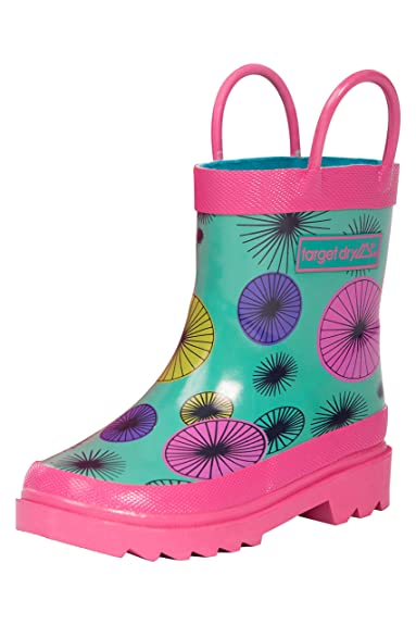 dbe6400c9b5 Target Dry Evie Girls Printed Rubber Welly Boots (Teal Parasol