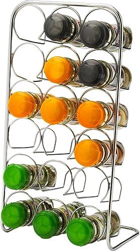 Hahn ZA4-71018 Pisa 18-Jar Chrome Spice Rack