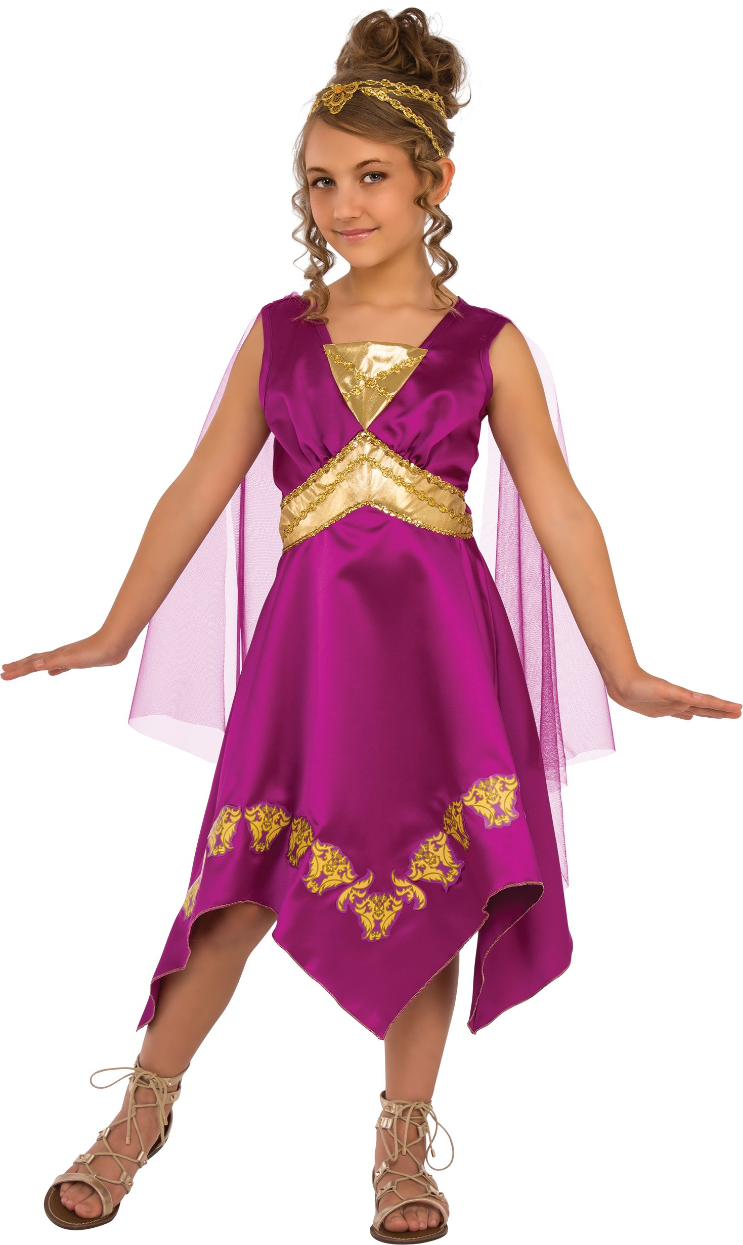 Rubies Child's Grecian Goddess Costume, Large, Multicolor