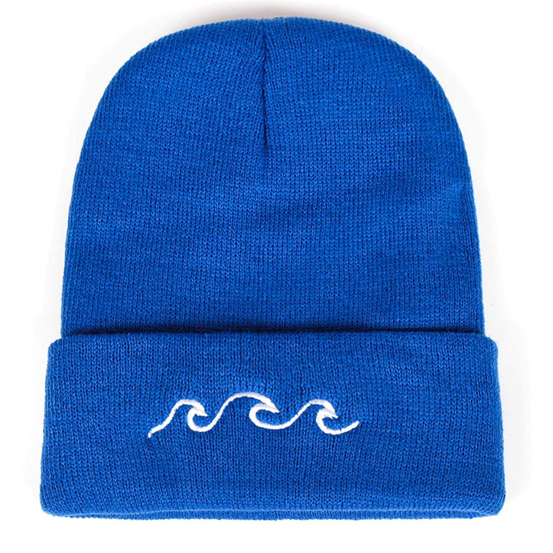 Couple Wave Embroidery Beanies Warm hat Men Women Winter Hip hop Cap Hats Bone Garros