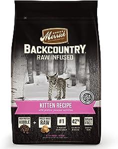 Merrick Backcountry Raw Infused Kitten Recipe Grain Free Dry Cat Food