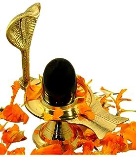 Amazing India Shaligram Shiva Ling Statue Hindu Puja Brass Stand