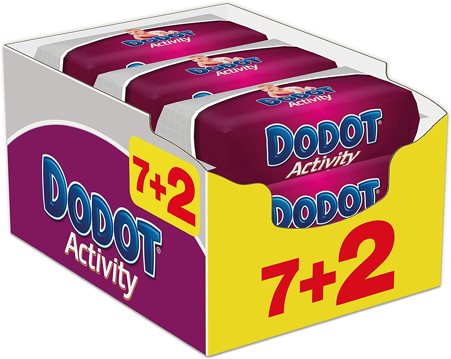 Dodot Activity - Toallitas, 9 Paquetes de 54 unidades: Amazon.es ...