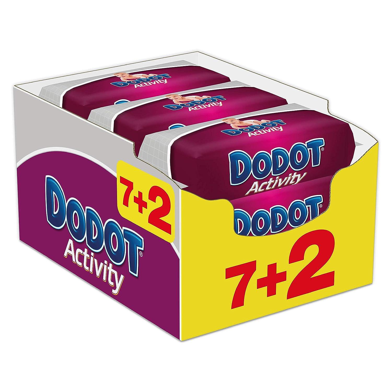 Dodot Activity - Toallitas, 9 Paquetes de 54 unidades - Total: 486 toallitas: Amazon.es: Bebé