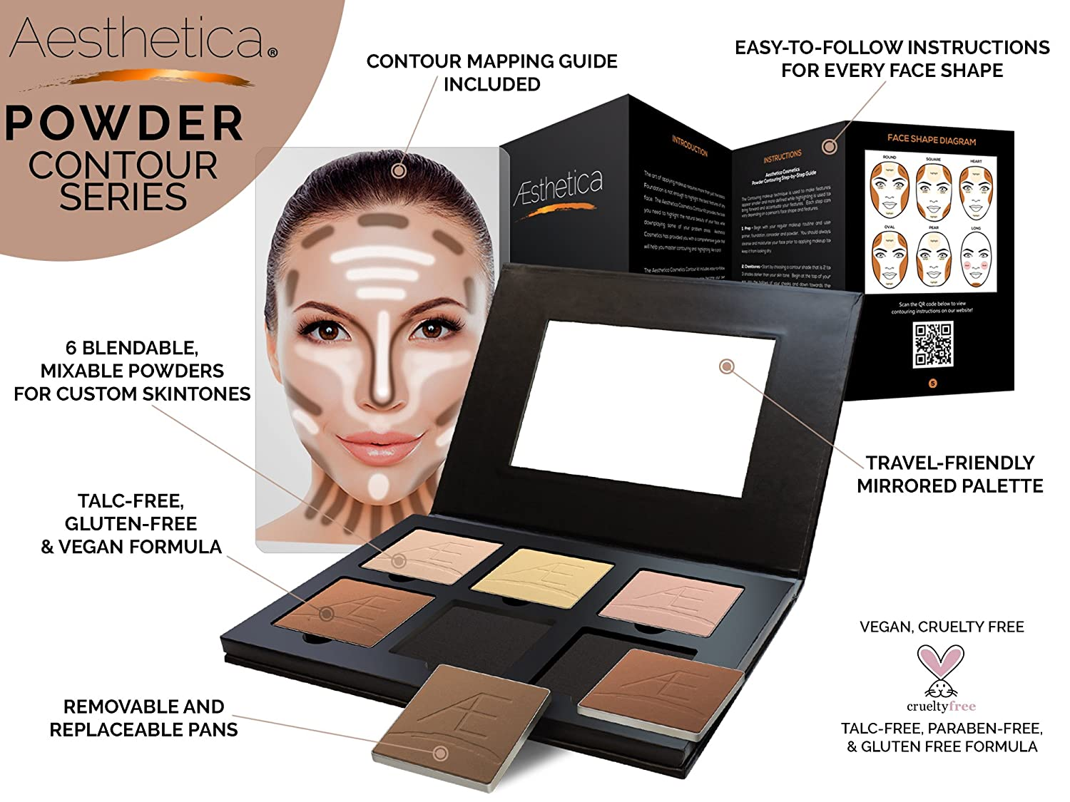Makeup contouring products images for What is cosmetics made of