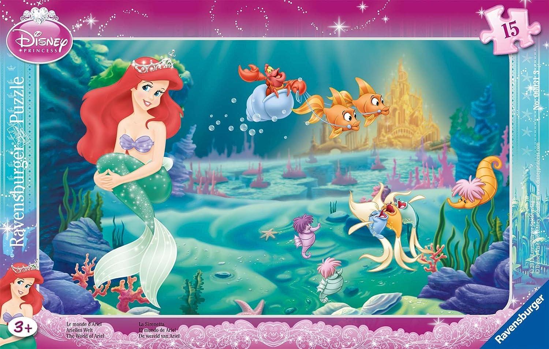 Disney Princess Ravensburger 06031gerahmt Puzzle–15Teile–Ariel 's World