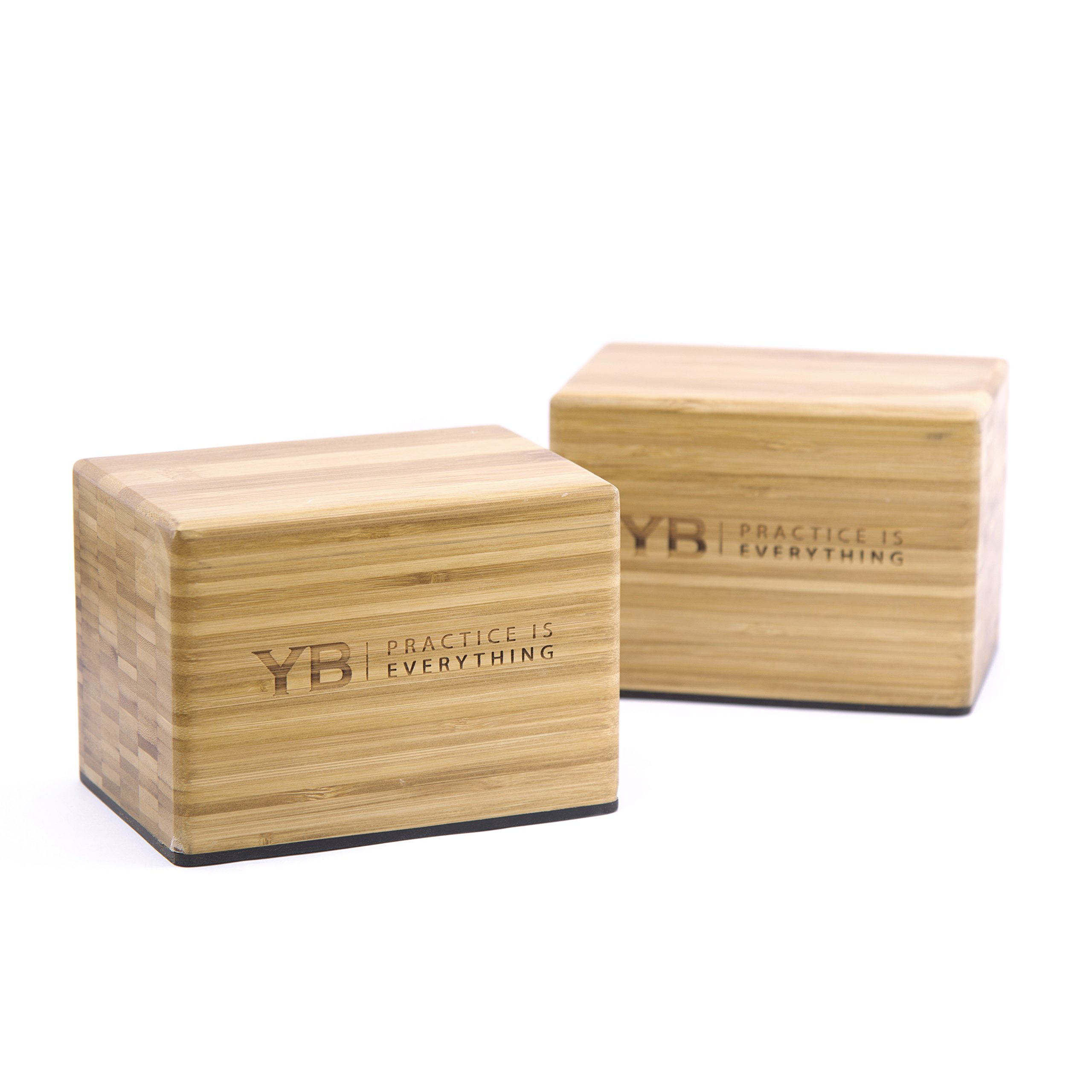 YOGABODY Bamboo Handstand Blocks with Non-Slip Rubber Bottoms, Yoga, Movement and Gymnastics Training with PDF Pose Chart