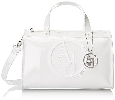 Armani Jeans RJ Patent Bowler Top Handle Bag b4210e00634f0
