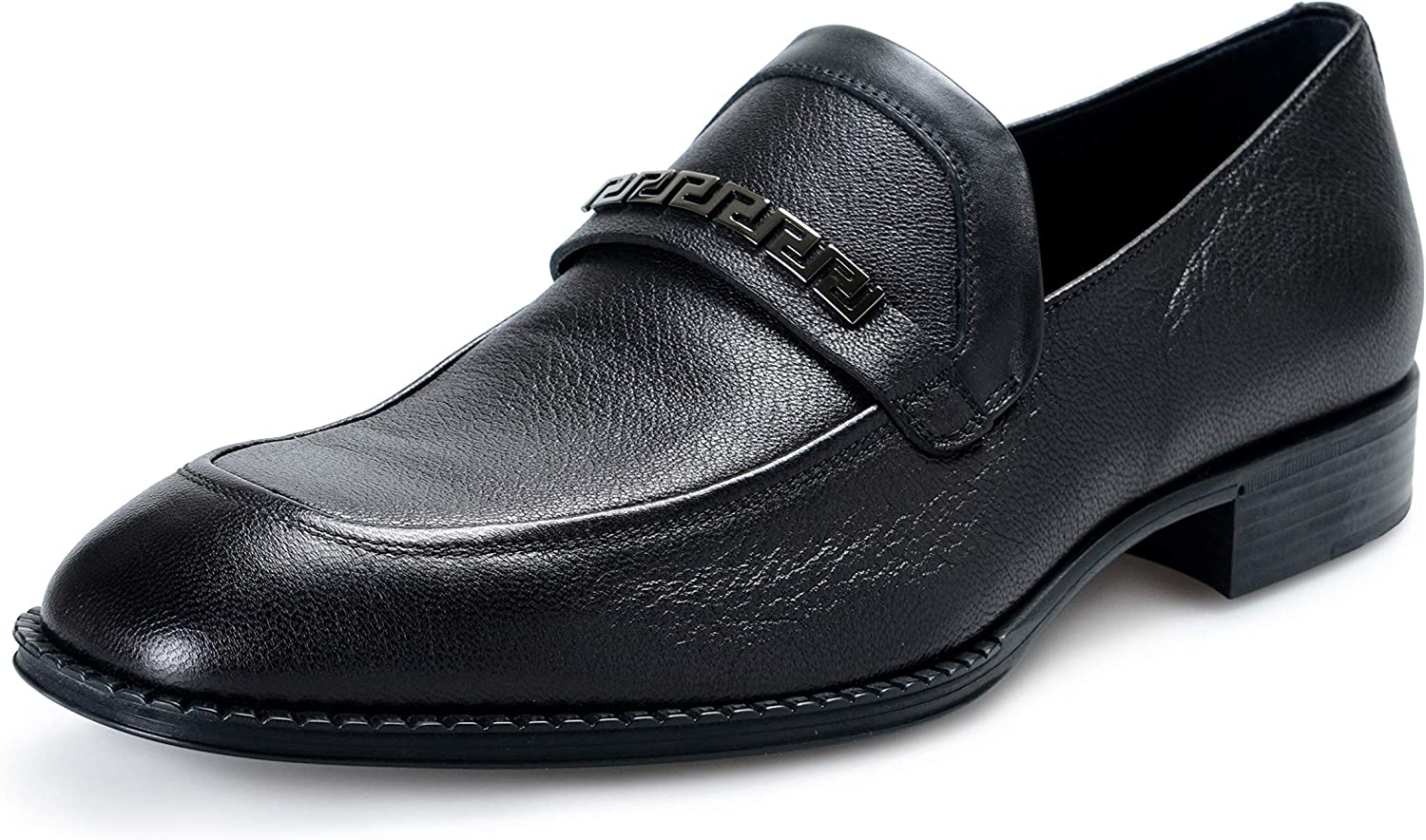 Leather Loafers Slip On Shoes