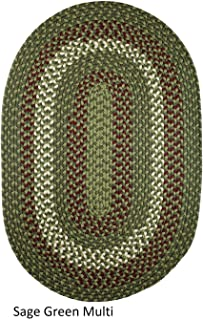 product image for Rhody Rug Mission Hill Multi Colored Indoor/Outdoor Reversible Rug Sage Green