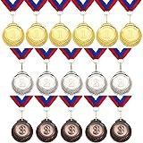 16 Pieces Metal Medals Winner Award Medals Gold