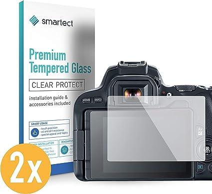 smartect Protector de Pantalla para Canon EOS 200D [2 Unidades ...