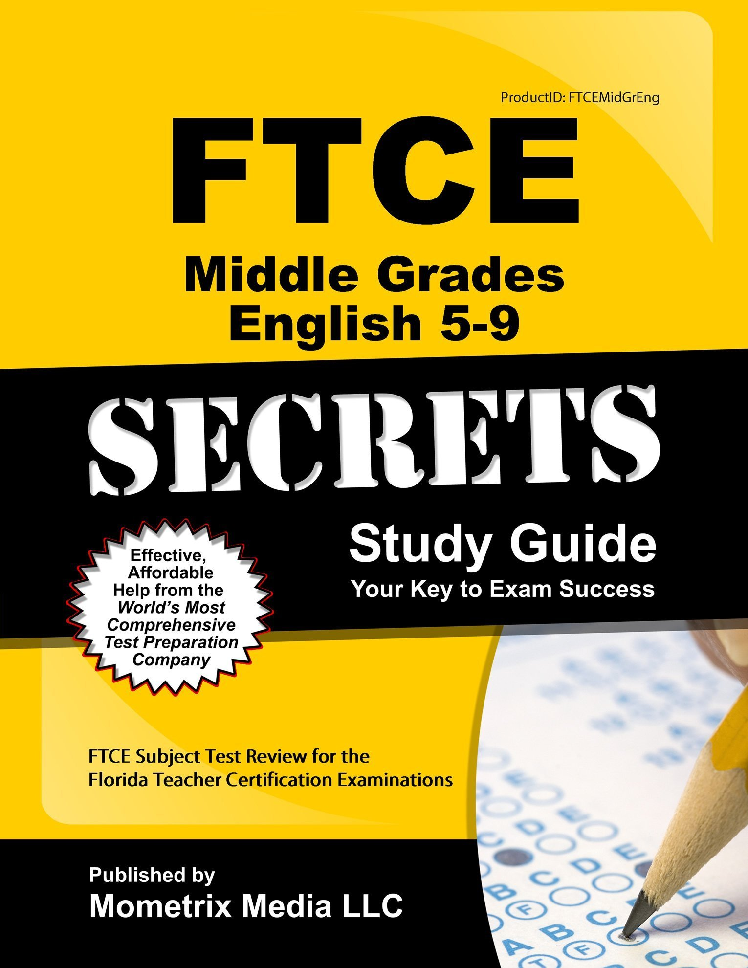 FTCE Middle Grades English 5-9 Secrets Study Guide: FTCE Subject Test  Review for the Florida Teacher Certification Examinations: Amazon.com: Books