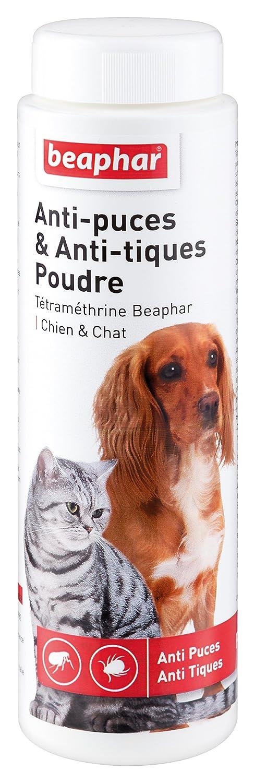 Beaphar - Poudre antiparasitaire à la Tétraméthrine, anti-puces et anti-tiques - chien et chat - 150 g 15706 antiparasitaire chien antiparasitaire chat anti-puces chat