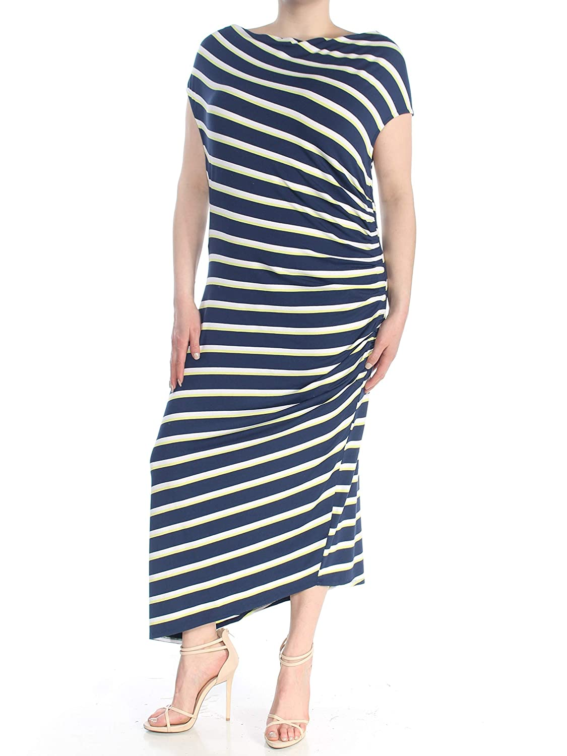 High Tide Stripe Vince Camuto Asymmetrical Midi Dress
