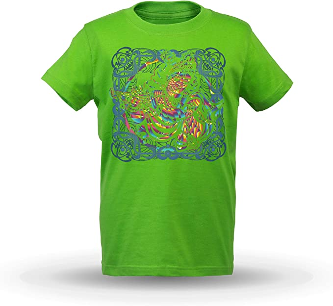 KrisTalas niños Camiseta de Las niñas India God Krishna God Spiritual Verde Claro 9/10 AÑOS: Amazon.es: Ropa y accesorios