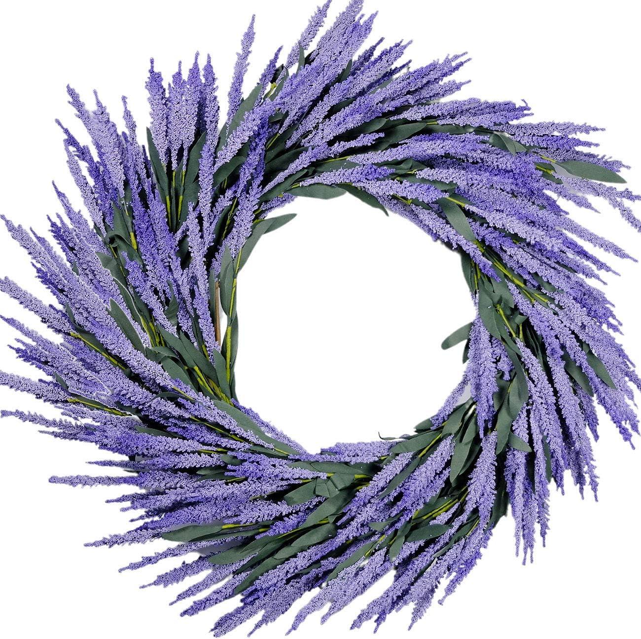 idyllic Lavender Wreath Wedding Decoration Purple 26