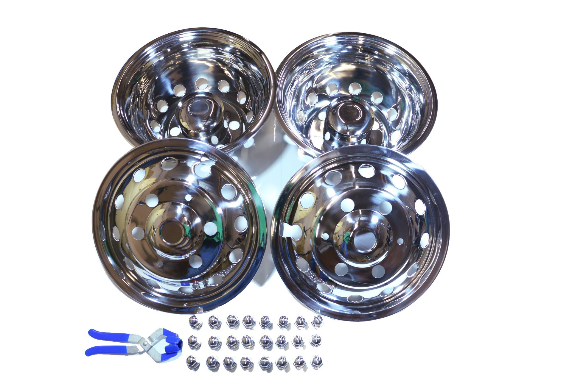 A+ 51016 2014-2016 Ford Transit Dually 6 Lugs Stainless Wheel Simulator, Pack of 4
