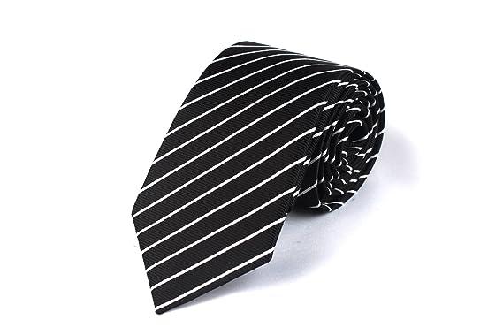Chris Vu, preciosa corbata finamente estructurada en negro, con ...
