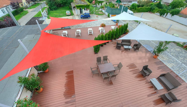 SUNNY GUARD 16 5 x 16 5 x 16 5 Terra Triangle Sun Shade Sail UV Block for Outdoor Patio Garden