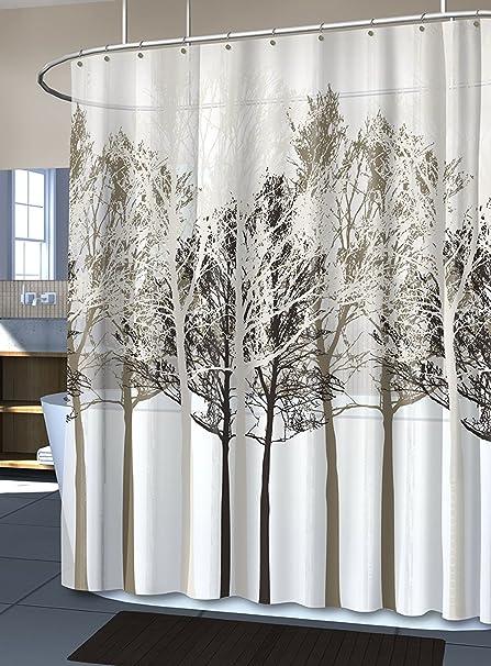 Forest Beige Fabric Shower Curtain 72Hx70W FOREST BEIGE