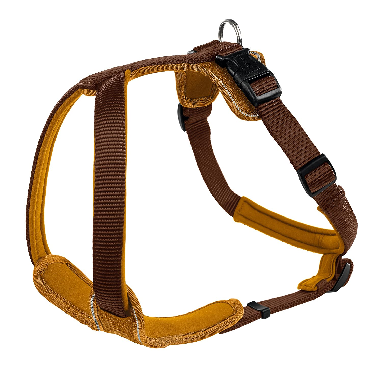 (ハンター) Hunter ワンちゃん用 ネオプレン ナイロン ドッグハーネス 犬用 胴輪 ペット用 B00NJ39BSW ブラウン/キャラメル 53-65cm