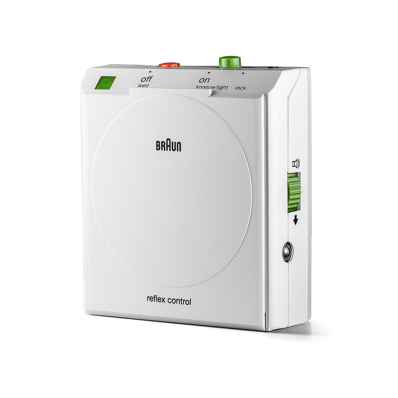 Braun - Despertador de viaje clásico con detector de movimiento, BNC005WHWH , color blanco: Amazon.es: Relojes
