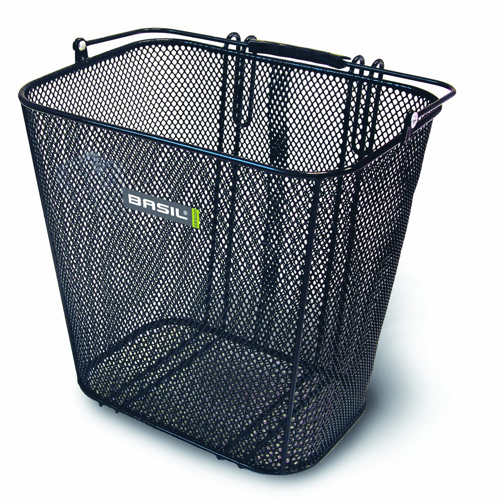 Basil Cardiff Rear Basket Black Bike Baskets