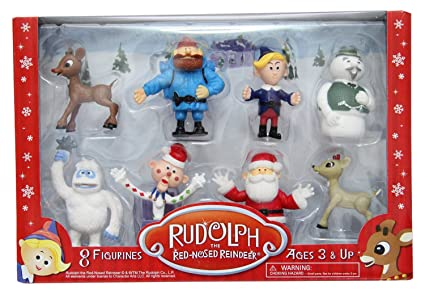 Rudolph the Red-Nosed Reindeer RUD32110 Cactus Games CGDRUD32110 4 Figurines Collectible Figurine Set 1