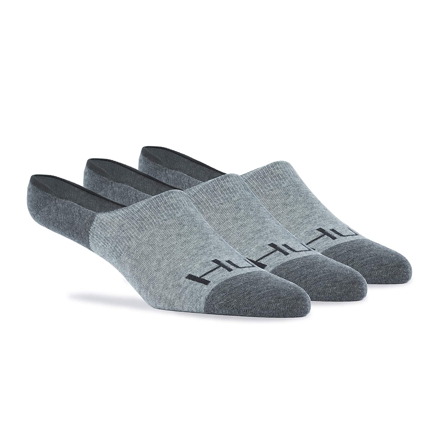 Huk Comfort No-Show Sock Heather Gray Spandex Blend Cotton