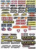 ADESIVI STICKERS KIT PER MOTO MOTOCROSS pannello intero 73pz OFFERTA motorino VINILE LUCIDO 73 pezzi