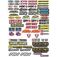 GamesMonkey Lot de 73 autocollants pour moto, motocross, scooter
