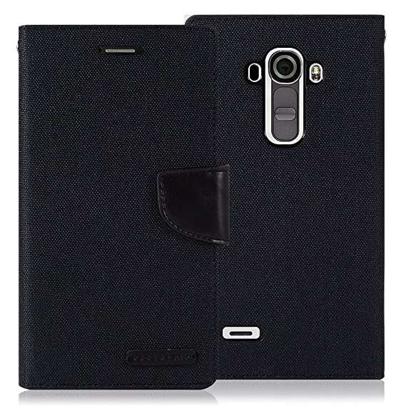 watch df439 b210c LG G4 Case, [Drop Protection] GOOSPERY Canvas Diary [Denim Material] Wallet  Case [ID Credit Card and Cash Slots] with Stand Flip Cover for LG G4 ...