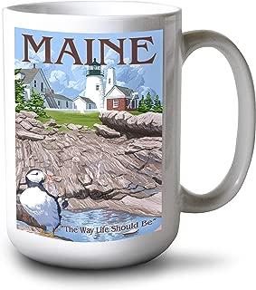 product image for Lantern Press Maine - The Way Life Should Be (15oz White Ceramic Mug)