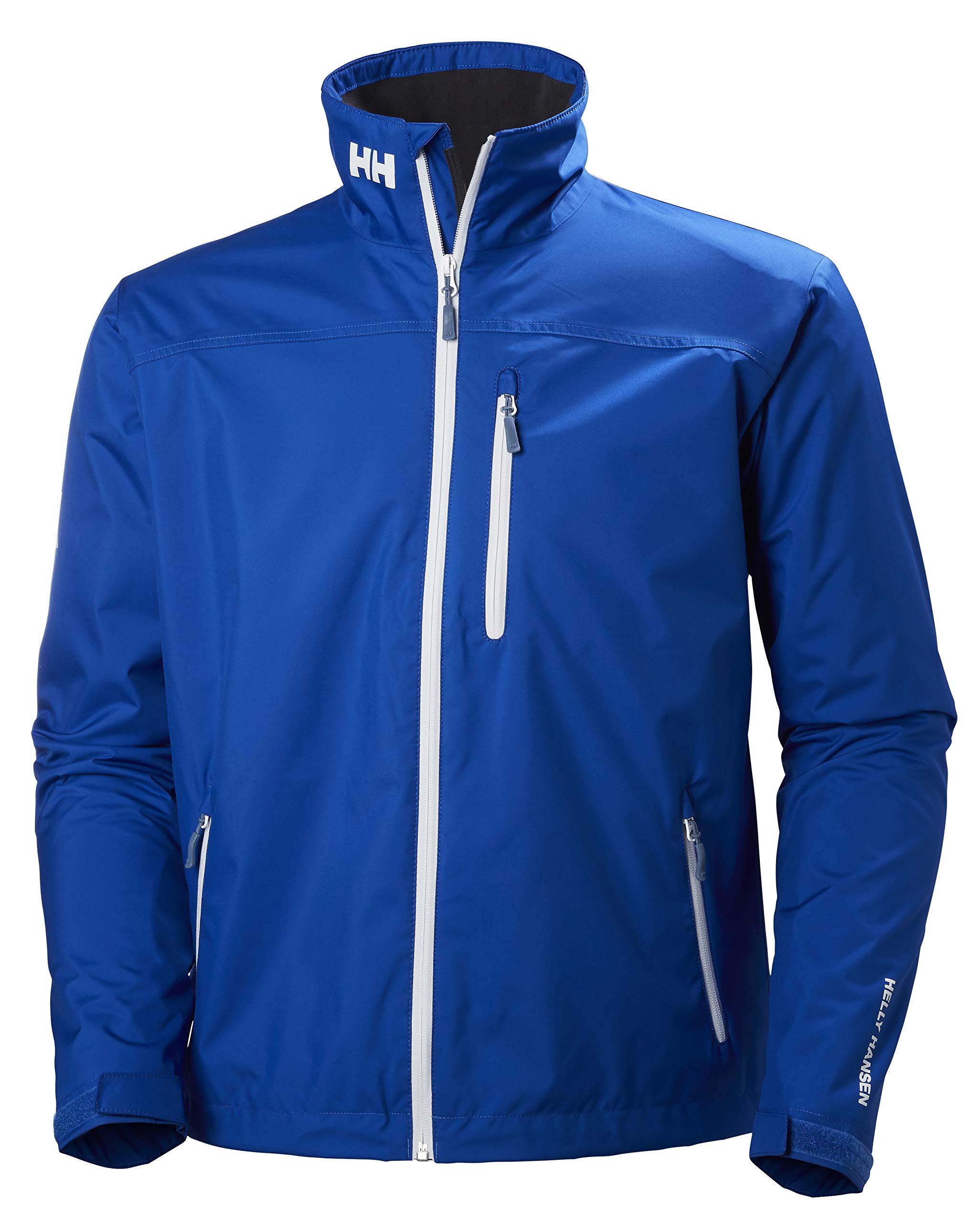 Helly Hansen Men's Crew Midlayer Fleece Lined Waterproof Windproof Breathable Rain Coat Jacket, 563 Olympian Blue, Small by Helly Hansen