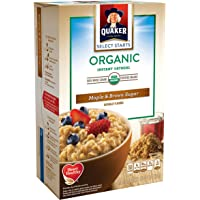 6-Box of 8-Count Quaker Instant Organic Oatmeal Maple & Brown Sugar Breakfast Cereal