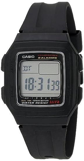 Casio F201WA-1A - Reloj para Hombres, Correa de Goma Color Negro: Casio: Amazon.es: Relojes