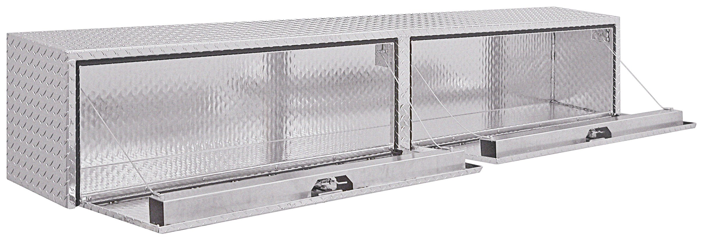 Buyers Products Diamond Tread Aluminum Topsider Truck Box w/ T-Handle Latch (16x13x72 Inch) by Buyers Products (Image #2)