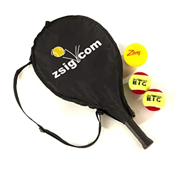 ZSIG - Mini Raqueta de Tenis para niños de 53,34 cm, Funda de Bolsillo para la Cabeza, Bolas: Amazon.es: Deportes y aire libre