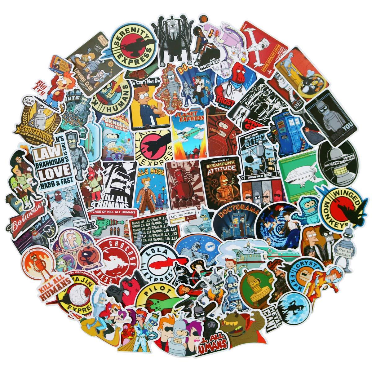 Stickers Calcos 74 Un. Surtidos Origen U.s.a. (7s511xtm)