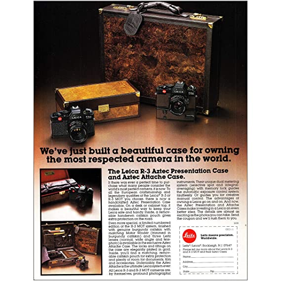 Amazon com: RelicPaper 1979 Leica R-3 Camera: Aztec