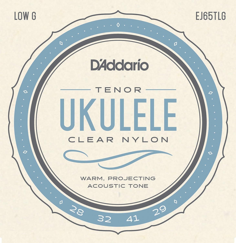 D'Addario EJ65TLG Pro-Arté Custom Extruded Nylon Ukulele Strings, Tenor Low-G D'Addario