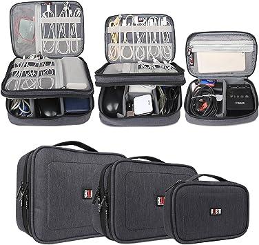 BUBM Estuches para Cables Bolsa para Aparato Electronico 3 Piezas para Guardar Memorias de USB Bolso de Ordenados Baterias Gadgets Mochilas de Cargador iPad/iPad Mini, Azul Oscuro: Amazon.es: Electrónica