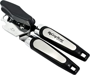 Can Opener - Premium Quality - Built in Bottle Opener - Heavy Duty Stainless Steel Blades, Easy Turn Knob and Ergonomic Handles