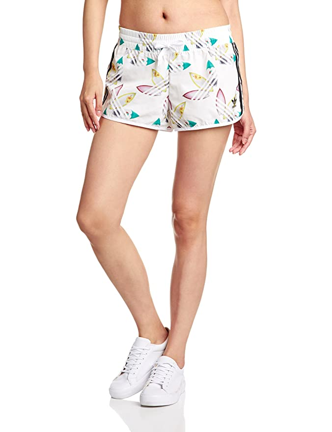 adidas Originals Womens Womens Pharrell Williams Surf Running Shorts in  White - 6  adidas Originals  Amazon.co.uk  Clothing 534687dbb7